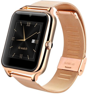 Voltegic ™ Business 3.0 Bluetooth Support Phone Card And Store Card Camera Sports Gold Smartwatch