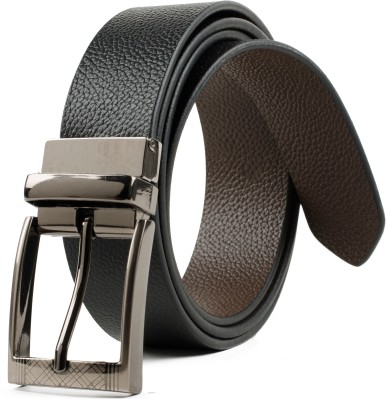 Winsome Deal Men Formal, Casual Black Genuine Leather Reversible Belt