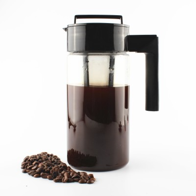 InstaCuppa Cold Brew Coffee Maker | Iced Tea Pot | Fruit Infuser Pitcher 1300ml, Premium BPA Free TritanJar, Fine Mesh Filter Infusion Unit 13 Cups Coffee Maker