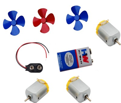 APTECHDEALS 3 Pcs Mini Toy Motor + 3 pcs Fan blade for RC Car, toys,science projects DIY