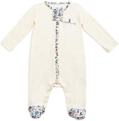 Mini Klub Baby Girls White Sleepsuit