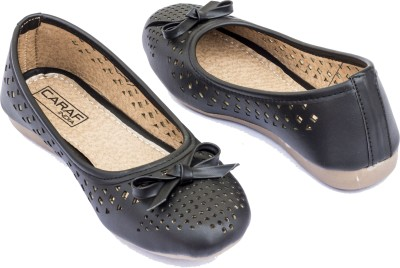 Caraf India Caraf India Girls Casual Cut Work Belly With Bow (CF-Black 2-40) Bellies For Women