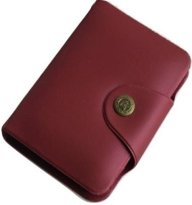 Sadarbazaarsales.Com Maroon Artificial Leather 10 Card Holder