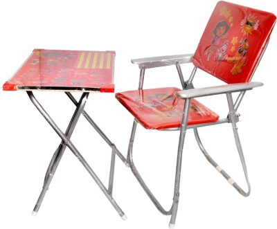 Sunshine Gifting Baby Multi Color Foldable Study Table And Chair Set(Red) Solid Wood Desk Chair