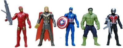 starsky The Team Avengers Set of Five Action Figures (Multicolor)