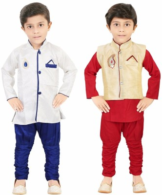 Style Junction Boys Festive & Party Kurta and Pyjama Set