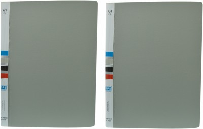 SPS Plastic Presentation File with 60 Folders with Capacity of 120 Documents Each ( Pack of 2, Total 120 Folders, 240 Pages Capacity) (Set Of 2, Grey)
