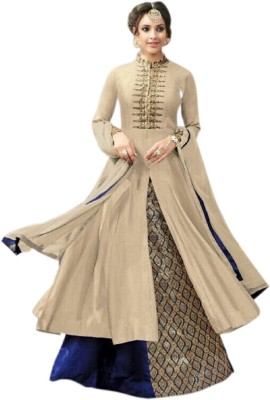 Apnisha Embroidered Semi Stitched Lehenga, Choli and Dupatta Set