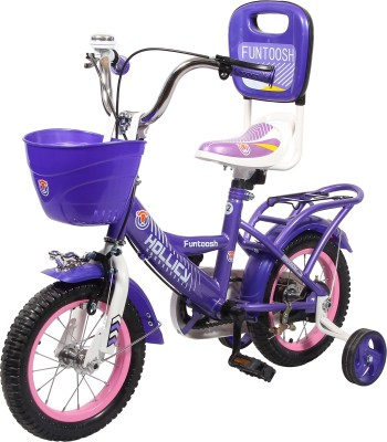 Hollicy FUNTOOSH 12 INCH KIDS BICYCLE - PURPLE 12 T Recreation Cycle