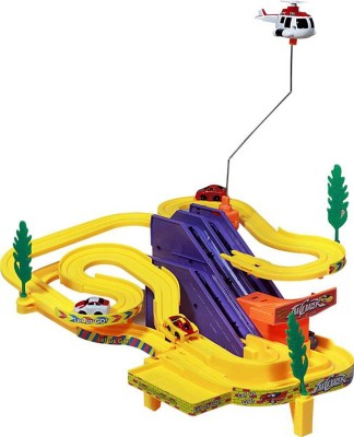 Bonkerz Musical Battery Operated Adventurous Track Racer Toy Car Racing Ramp Game Set