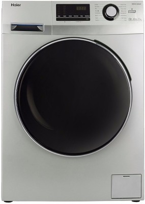 Haier 7 kg Fully Automatic Front Load Washing Machine Grey