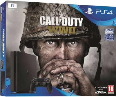 Sony PlayStation 4 (PS4) Slim 1 TB with Call of Duty WWII