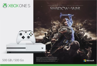 Microsoft Xbox One S 500 GB with Shadow of War