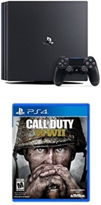 Sony Ps4 Pro Console One TB GB with Call of Duty: WWII (PS4)