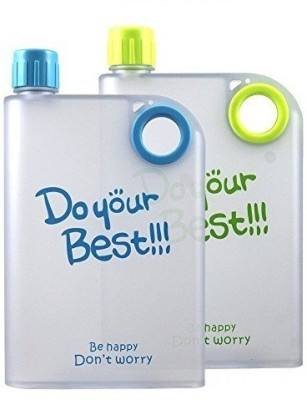 Shopo Do Your Best A5 Slim & Flat Memo Notebook Portable Silicone Water 380 ml Bottle