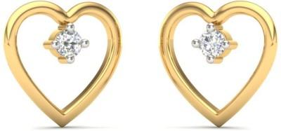Kataria Jewellers The Sonnehilde BIS Hallmarked Yellow Gold 14kt Diamond Stud Earring