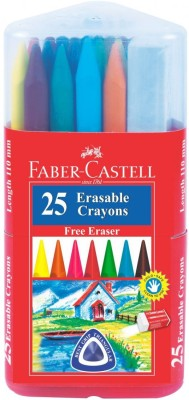 Faber-Castell 25 Erasable Plastic Crayons Gift Pack (110mm)