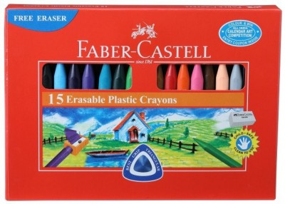 Faber-Castell 15 Erasable Plastic Crayons (70mm)
