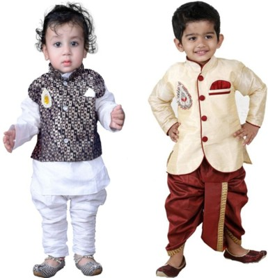 KL Collection Boys Festive & Party Dhoti & Kurta Set