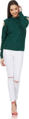 saint gauge Round Neck Self Design Women Pullover