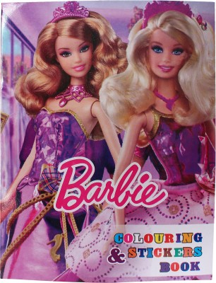 Anvi ANG Barbie Colour Book for Kids (6 Books Pack)