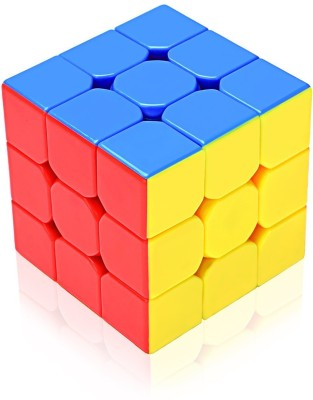 Emob Stickerless 3x3x3 High Speed Magic Rubik Cube Puzzle Toy