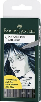 Faber-Castell Pitt Artist Pen Color (B) Pens (Soft Brush)