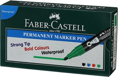 Faber-Castell Permanent Marker Pen Green Box