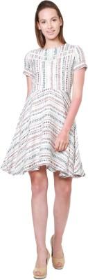 Allen Solly Women A-line White Dress