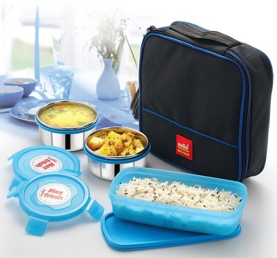 Cello Max Fresh Perfect Blue 3 Containers Lunch Box
