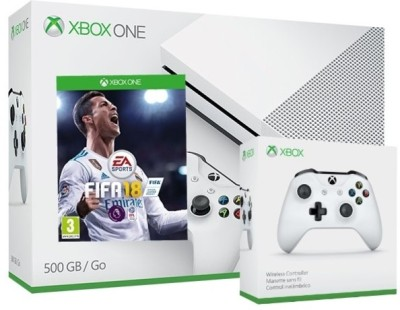 Microsoft Xbox S Console with Extra Controller 500GB GB with Fifa 18