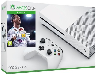 Microsoft Xbox One S Console 500GB GB with Fifa 18