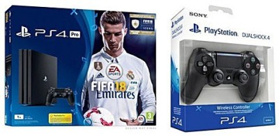 Sony Ps4 Pro with Extra Controller One TB GB with Fifa 18
