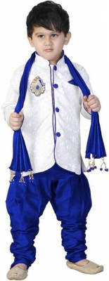 KL Collection Boys Festive & Party Kurta, Pyjama & Dupatta Set