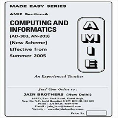 AMIE - Section - (A) Computing And Informatics (AD-303,AN-203) Diploma Solved And Unsolved Paper