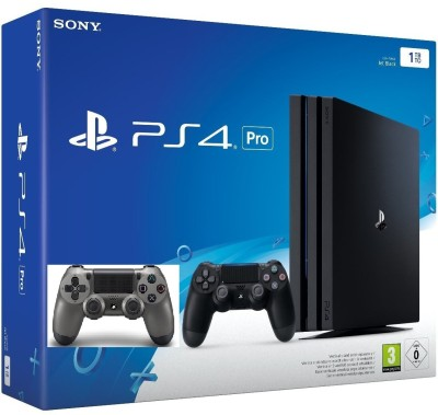 Sony PlayStation 4 (PS4) Pro 1 TB GB with one Extra Controller(Steel Black)