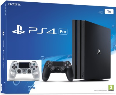 Sony PlayStation 4 (PS4) Pro 1 TB with one Extra Controller(Crystal)