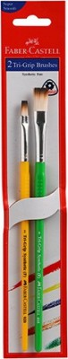Faber-Castell 2 Tri Grip Brushes (Flat)