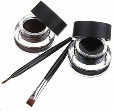 Music Flower Black and Brown Gel Eyeliner With brush 32 g