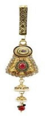 Frabjous Multicolor Gold Plated German Silver Waist Key Chain for Women Brooch