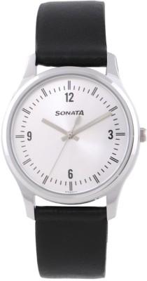Sonata 77082SL01 Essentials Analog Watch  - For Men