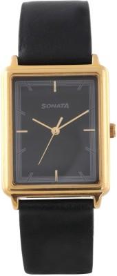 Sonata 77084YL02 Essentials Watch  - For Men