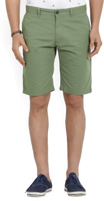Indian Terrain Printed Men Green Chino Shorts