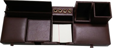 Essart 1 Compartments Outer body is made up in Faux Leather, Inner body is made up of soft velvet Desk Set