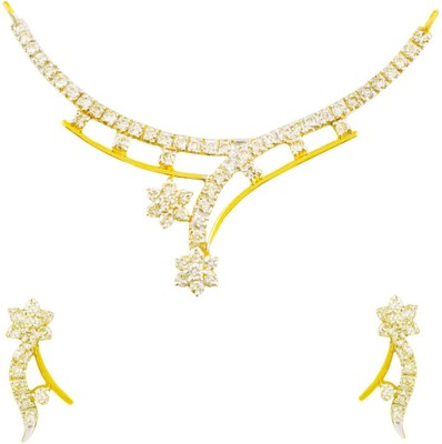 Mehrasons Jewellers Yellow Gold PDP-17000009_PDT-17000009 14kt NA Earring & Necklace Set