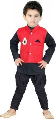 FTC FASHIONS Boys Festive & Party Kurta, Waistcoat and Pyjama Set