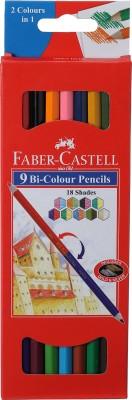 Faber-Castell 9 Bi Colour Pencils Pencil