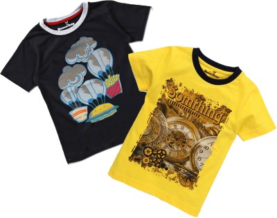 NammaBaby Boy's & Girl's Self Design Cotton T Shirt