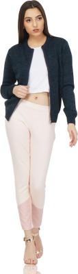 saintgauge Women Zipper Solid Cardigan
