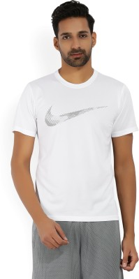 Nike Printed Men's Round Neck White T-Shirt